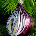 Red Delicious Onion Glass Ornament