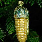 King Kool Corn Glass Ornament