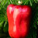Red Delicious Pepper Glass Ornament