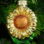 Sunflower Glass Ornament