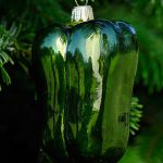 Green Pepper Glass Ornament