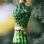 Asparagus Glass Ornament