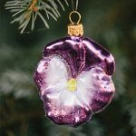 Pansy Glass Ornament