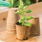 Round Fiber Pots 4.5″ 10-Pack